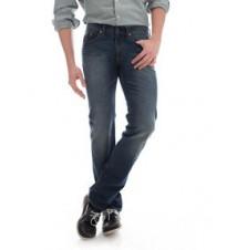 Slim Straight Fit Jeans, Vintage Wash