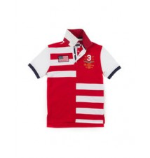 Boys Colorblock Stripe Anniversary Polo Shirt