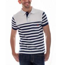 Slim Fit Striped Pocket Polo Shirt