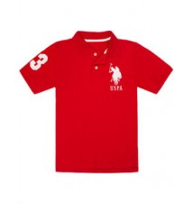 Boys Pique Big Logo Polo Shirt
