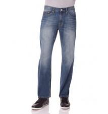 Slim Straight Fit Logo Pocket Jean, MEDIUM WASH