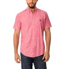 Short Sleeve Solid Canvas Shirt
