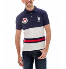 Slim Fit Color Block Polo Shirt