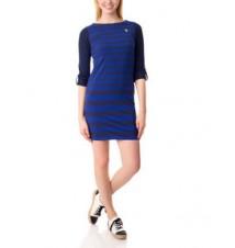 Long Sleeve Multi Stripe Boater Dress