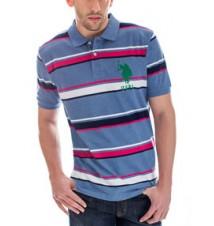 Big Logo Striped Polo Shirt