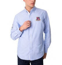 Long Sleeve Classic Oxford Shirt With USPA Patch a