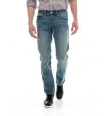 Slim Straight Fit Pocket Logo Jean,Vintage Light
