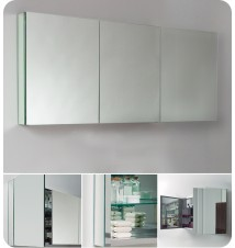 """Fresca 60"""" Wide Bathroom Medicine Cabinet w/"""