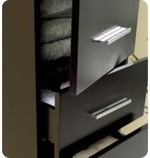 Fresca  Bathroom Linen Side Cabinet w/ 3 Pull Out Drawe