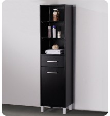 Fresca  Bathroom Linen Side Cabinet w/ 3 Open Shelv