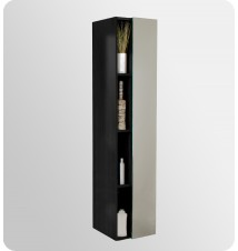Fresca  Bathroom Linen Side Cabinet w/ 4 Cubby Holes & Mirror