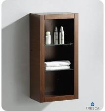 Fresca  Bathroom Linen Side Cabinet w/ 2 Glass Shelv