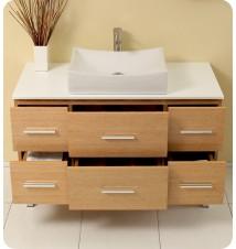Fresca Distante  Modern Bathroom Vanity w/ Mirror & Side Cabin