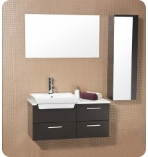 Fresca Caro  Modern Bathroom Vanity w/ Mirrored Side Cabin