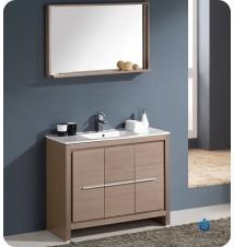 """Fresca Allier 40""""  Modern Bathroom Vanity w/ Mirror"""