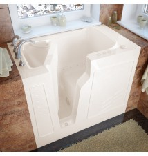Venzi 26x46 Left Drain Biscuit Air Jetted Walk In Bathtub