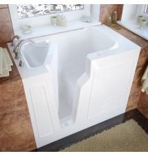Venzi 26x46 Left Drain White Soaking Walk In Bathtub