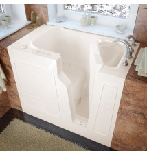 Venzi 26x46 Right Drain Biscuit Air Jetted Walk In Bathtub