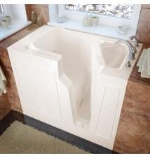 Venzi 26x46 Right Drain Biscuit Whirlpool & Air Jetted Walk In Bathtub