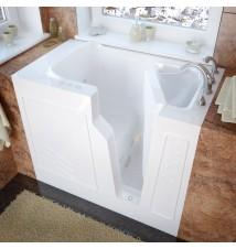 Venzi 26x46 Right Drain White Whirlpool Jetted Walk In Bathtub
