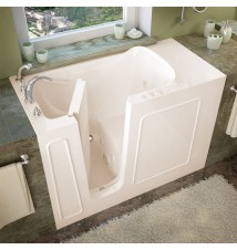 Venzi 26x53 Left Drain Biscuit Whirlpool Jetted Walk In Bathtub