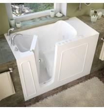 Venzi 26x53 Left Drain White Whirlpool & Air Jetted Walk In Bathtub