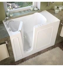 Venzi 26x53 Left Drain White Soaking Walk In Bathtub