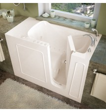 Venzi 26x53 Right Drain Biscuit Whirlpool & Air Jetted Walk In Bathtub