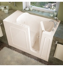 Venzi 26x53 Right Drain Biscuit Whirlpool jetted Walk In Bathtub