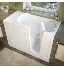 Venzi 26x53 Right Drain White Soaking Walk In Bathtub