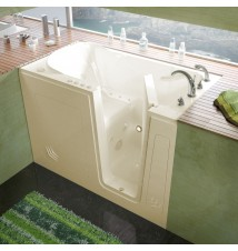 Venzi 30x54 Right Drain Biscuit Whirlpool & Air Jetted Walk In Bathtub