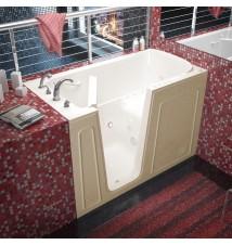 Venzi 32x60 Left Drain Biscuit Whirlpool & Air Jetted Walk In Bathtub