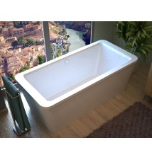 Venzi Aquilia 34 x 67 x 22 Rectangular Freestanding Bathtub with Center Drain