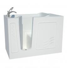 Venzi Artisan Series 30x53 White Soaker Walk-In Tub Left
