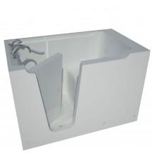 Venzi Artisan Series 36x60 Left Drain Soaking Walk-In Bathtub in White
