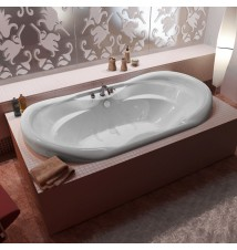 Venzi Aline Waterfall 41 x 70 Oval Soaking Bathtub with Center Drain