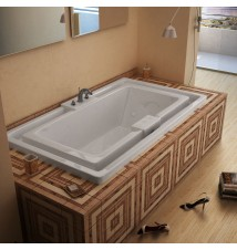 Venzi Grand Tour Celio 46 x 78 Endless Flow Air & Whirlpool Jetted Bathtub