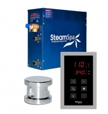 SteamSpa 4.5kw Touch Pad Steam Generator Package in Chrome