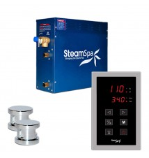 SteamSpa 10.5kw Touch Pad Steam Generator Package in Chrome